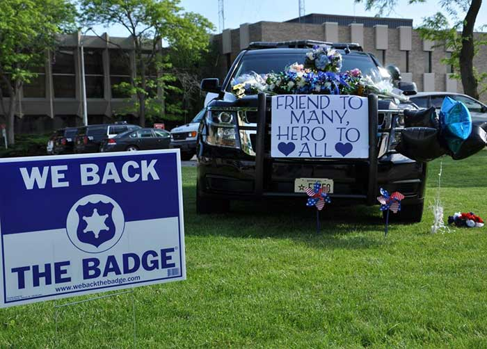 memorial for slain Racine Police Officer John Hetland